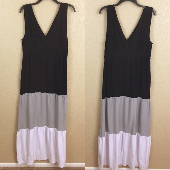Old Navy Large Maxi Color Block Dress